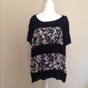 Forever 21+ plus size 2XL abstract T-shirt
